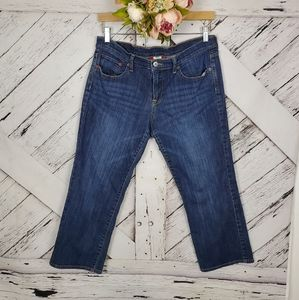 Lucky Brand Cropped Blue Jeans sz 10/30
